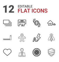 12 simple icons vector