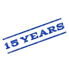 15 Years Watermark Stamp vector