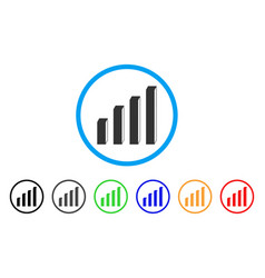 3d bar chart rounded icon vector image