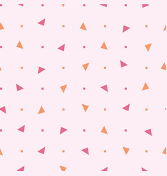 80s seamless pattern with triangle and vector image