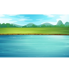 A river and a beautiful landscape vector
