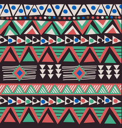 african ethnic motifs background vector image