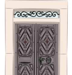 antique doors vector image