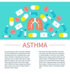 Asthma poster with place for text vector