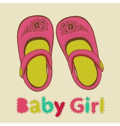 Baby girl shoes vector