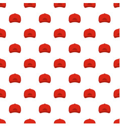 baseball cap back pattern seamless vector image