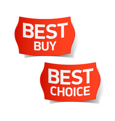Best buy and best choice labels vector