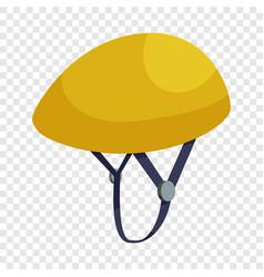 Bicycle protective helmet icon isometric style vector