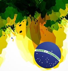 brazil background vector image