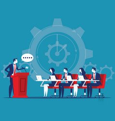 Business corporate meeting concept business vector