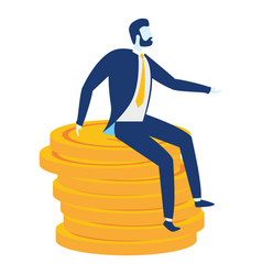 businessman character coins vector image