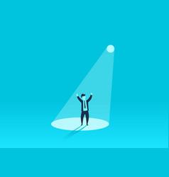 Businessman in spotlight human resource vector