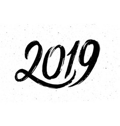 Calligraphy for 2019 new year of the pig vector