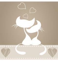 Cartoon cats in love vector