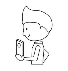 cartoon man ico vector image