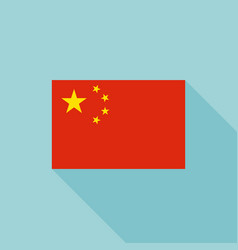 china flag flat design vector image