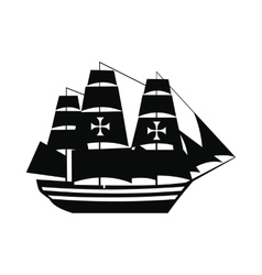 Columbus ship icon vector image