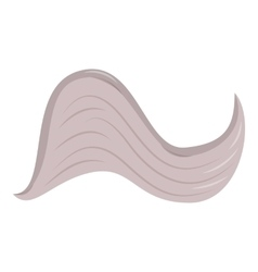 Curved wing icon cartoon style vector