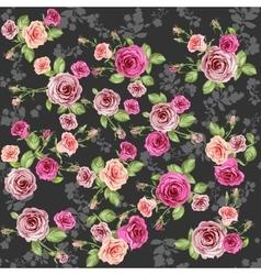 Dark roses pattern vector