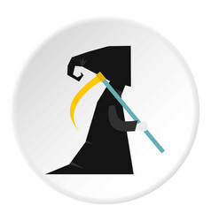 Death with scythe icon circle vector