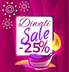 Diwali sale -25 off sign vector