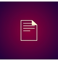 document icon paper sheet flat design vector image