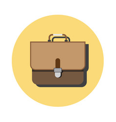 Drawn suitcase on white vector