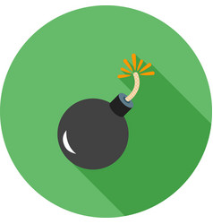 exploding cannon ball vector image