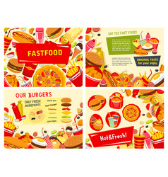 Fastfood posters for fast food restaurant vector
