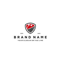 Finance shield logo design vector