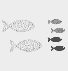 Fish pair mesh carcass model and triangle vector