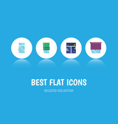 Flat icon window set of frame clean glazing and vector