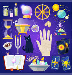 fortune telling fortune-telling or vector image