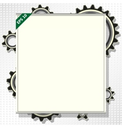 frame for text with gears vector image