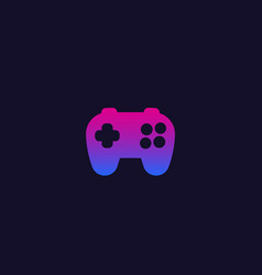 games logo with gamepad vector image