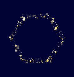 gold gradient star dust sparkle background vector image