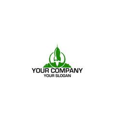 Green rocket grunge logo design vector