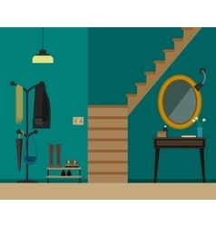Hall interior with furniture vector image