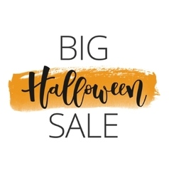 Halloween sale inscription vector image