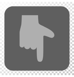Hand Pointer Down Rounded Square Button vector