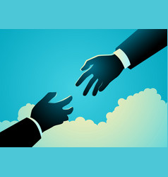 Helping hand in business vector