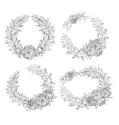 holiday wreaths for any event vector image