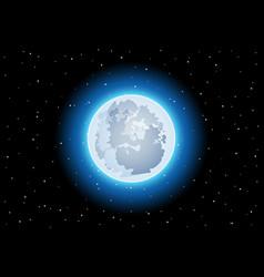 huge clusters stars in dark sky and moon vector image