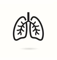 Human lungs icon logo design template vector