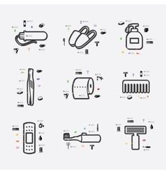 Hygiene infographic vector