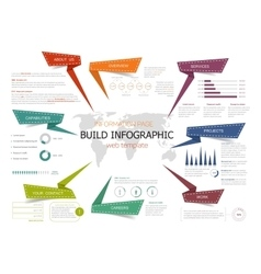 Infographic information page web template design vector