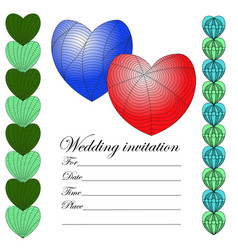 invitation for a wedding in the style of a zenart vector image