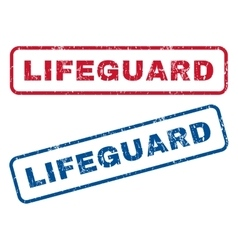 Lifeguard Rubber Stamps vector