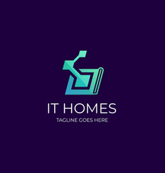lt home template vector image