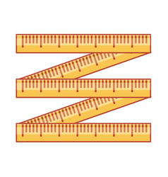 Measuring tape isolated icon vector